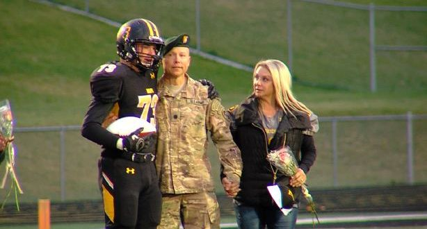 Great Clips of the Week: Army dad surprises Wasatch High lineman with senior night appearance   KSL