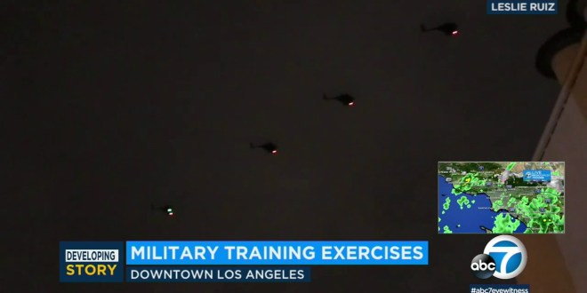 Military exercise causes scare in downtown Los Angeles | ABC7