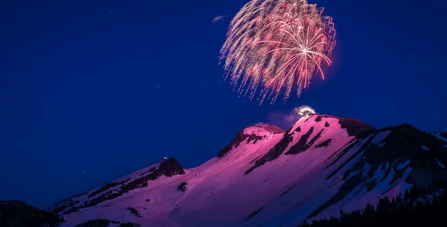 At This California Mountain You Can Ski on the 4th of July Before Watching the Highest Fireworks Display in the U.S. | Travel and Leisure