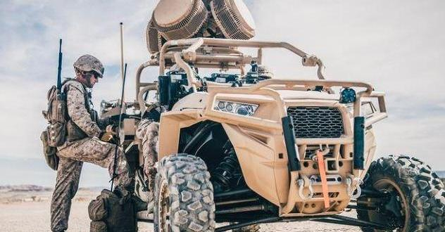 U.S. Marines test vehicle-mounted laser for shooting down drones | UPI