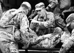 black and white pic of soldiers