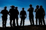 Silhouette of Navy Seals