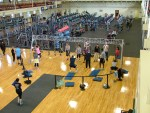 TRX Fitness program taking place on a military base family fitness center