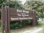 Fort Bragg, Home of The Airborne and Special Operations Forces, main gate.