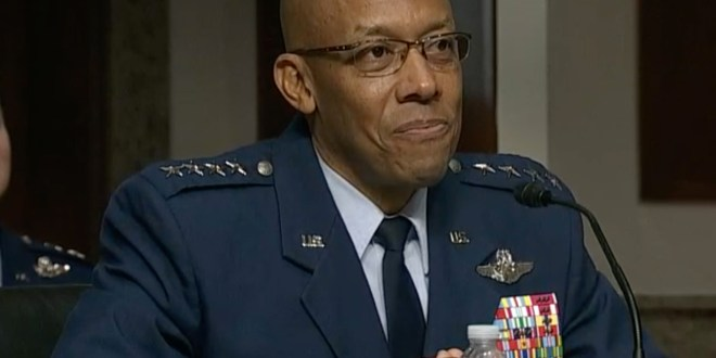 Air Force general confirmed as first black chief of a U.S. military service | Politico