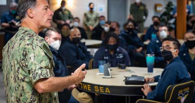 4-Star Admiral visited Strike Group after racist graffiti found on ship | Military.com