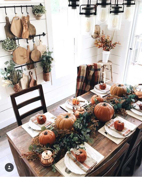 Vestir la mesa en otoño