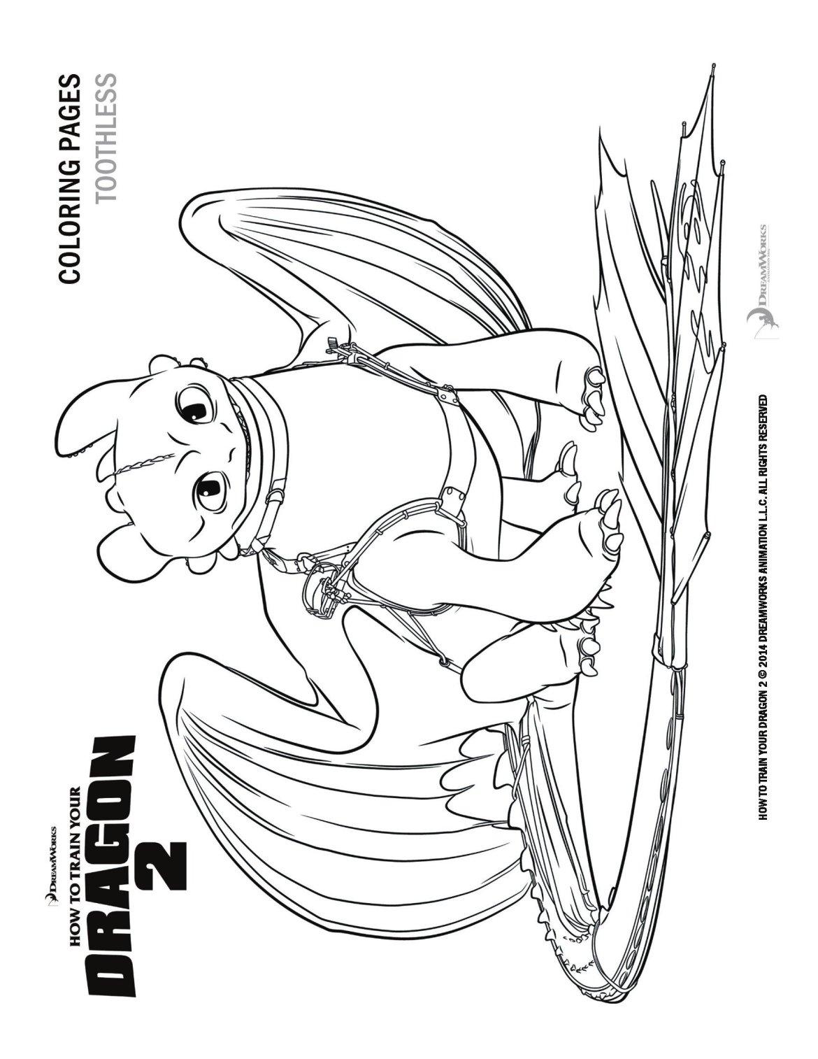 Elegante Dragon Trainer 2 Disegni Da Stampare E Colorare Migliori