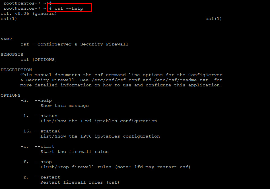 Installation Of ConfigServer Security & Firewall (CSF) On Linux