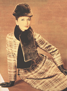 1960s Dior brown tweed dress