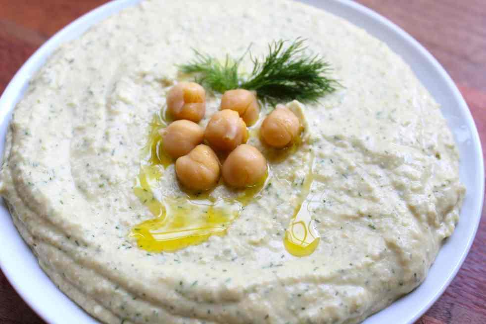 Lemon & Dill Hummus| #SoHappyYouLikedIt
