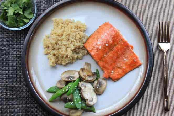 Salmon with Sriracha and Lime| #SoHappyYouLikedIt #CookbookMonth #ItsAllGood #Dinner #Salmon