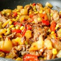Stekt kylling med mango og soyasaus
