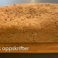 Grovt frokostbrød med sammalt hvete grov og sammalt rug grov