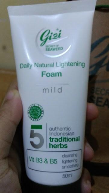 Gizi Daily Natural Lightening Foam