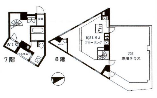 STEPS702号室間取り図 SOHO東京
