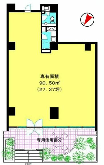 ミュゼ表参道1F図面 SOHO東京