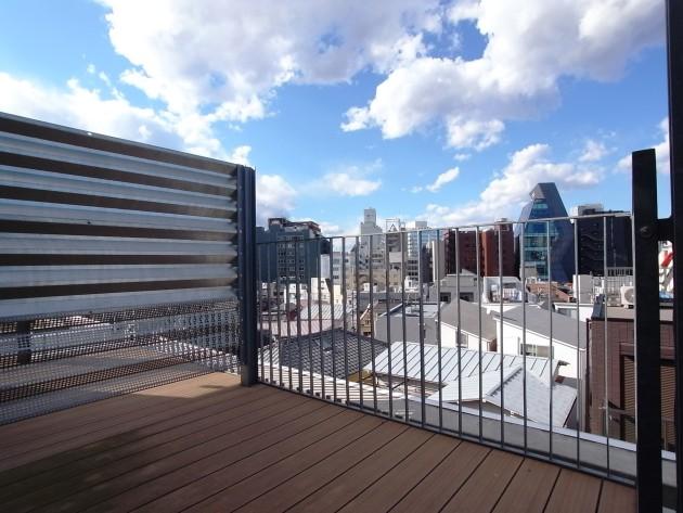 モデリアブリュット表参道303号室ペントハウス上部テラスからの眺め|SOHO東京