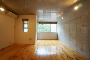 駒沢大学、無垢材の暖かみと緑を意識した空間