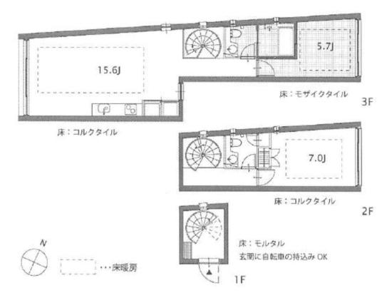 クアトロポルテC号室図面|SOHO東京