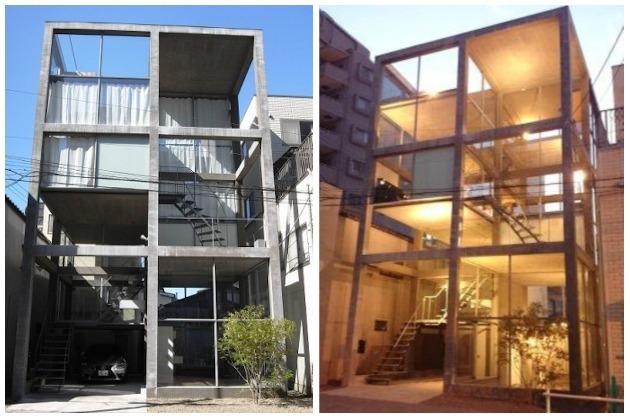 夏目坂。全面ガラス貼りの前衛的デザインオフィス。