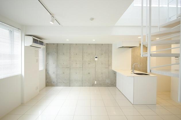 【募集終了】乃木坂。ルーフテラス付、最上階のホワイト空間。