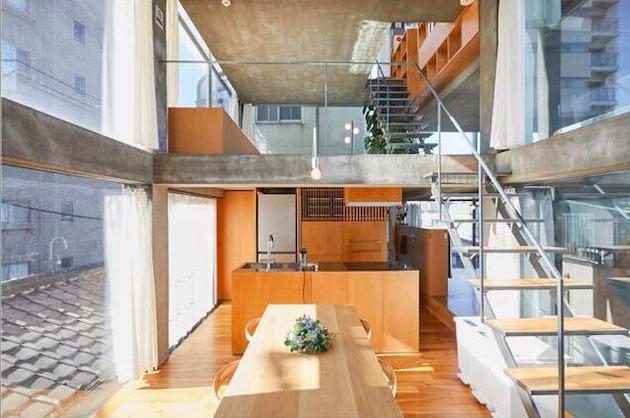 夏目坂。全面ガラス貼りの前衛的デザインオフィス。<p>[新宿区/52万円/87㎡]