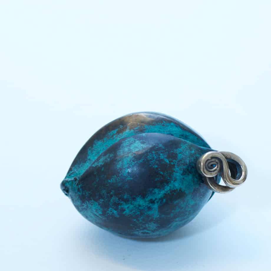 Avocado-COMPLETE--set-BRONZE-PATINA-polished-stainless--INCLUDE-IMAGE--FOR-ALL-SCULPTURES