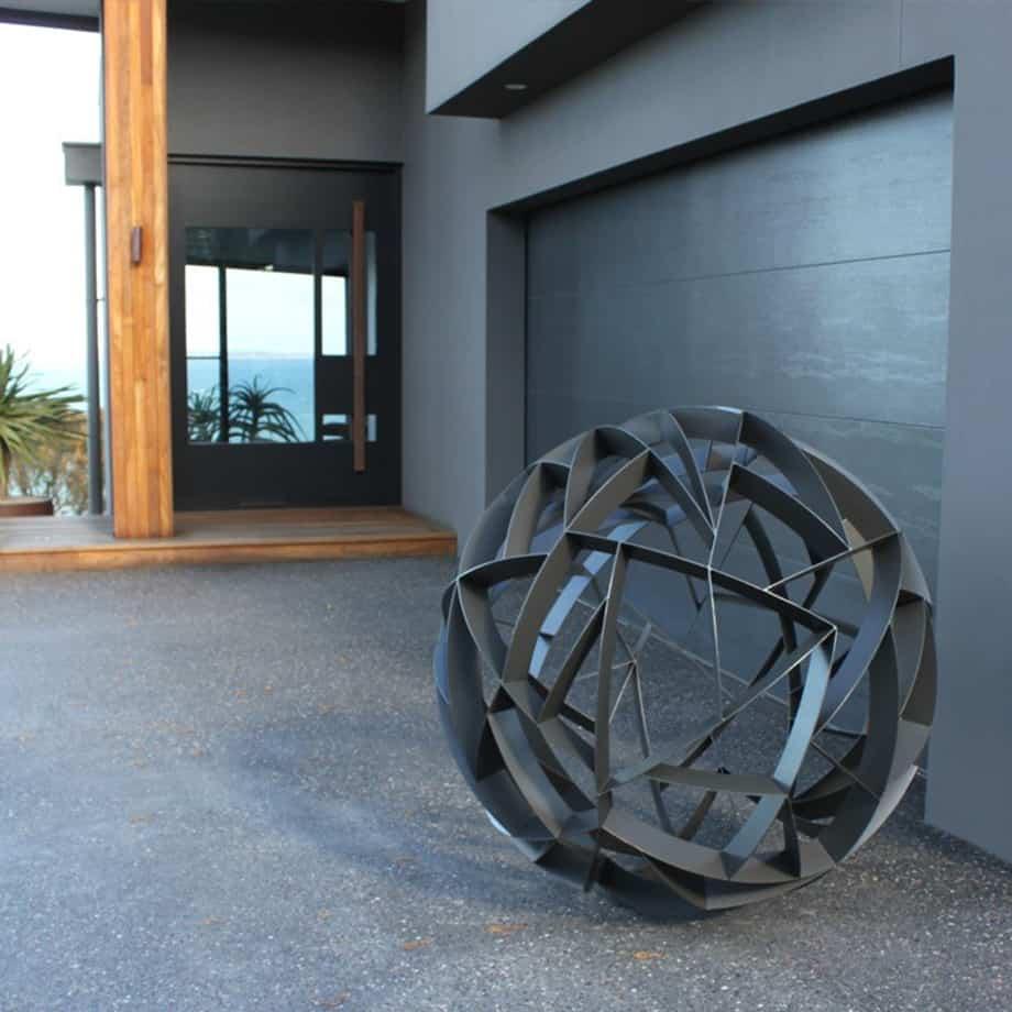 Axis-120cm-POWDER-COATED-STAINLESS-[outdoor,stainless-steel]paul-mutimer-garden-sculpture-out-door-garden-sphere-art