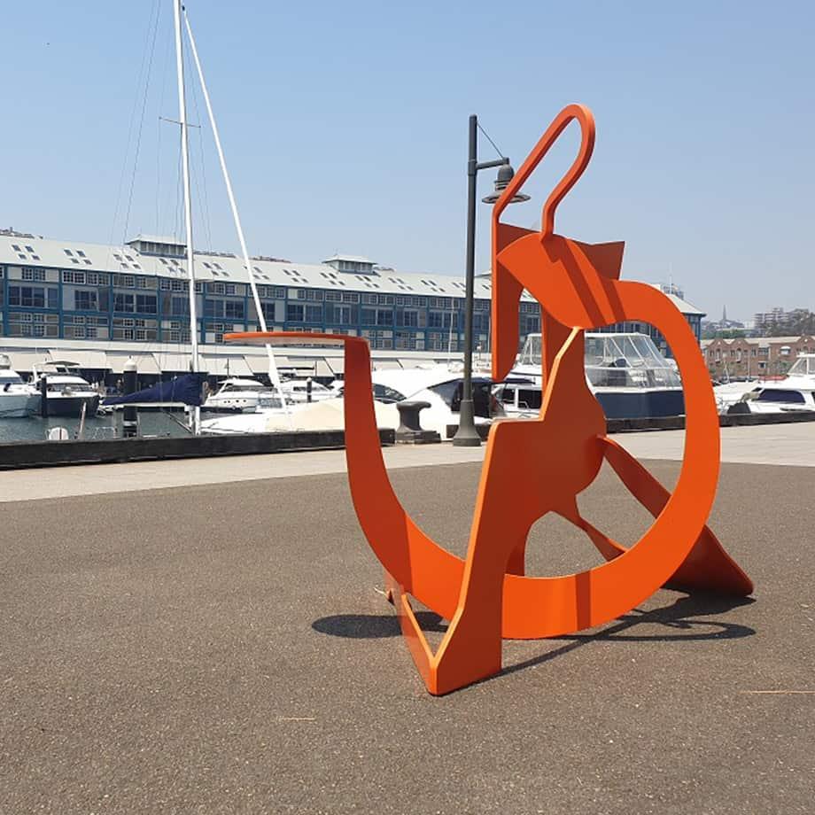 Circus-140x180cm-Stainless-STEEL-orange-powder-coat[outdoor,-fre-standing]blazeski-australian-abstract-sculpture-garden-art