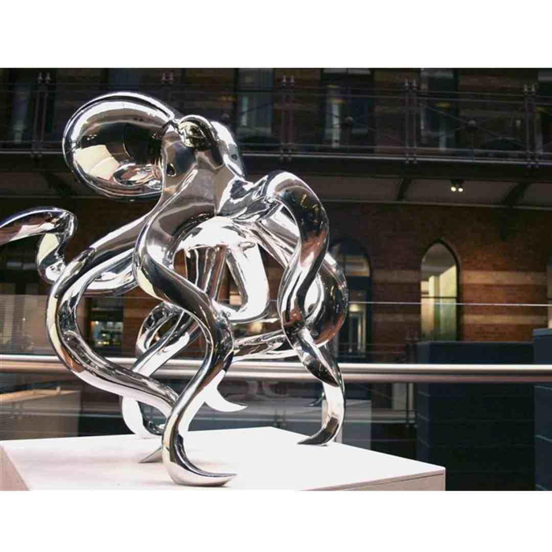 Octopus-lrgl-90cm-stainless-steel-animal-sculpture,-outdoor-garden-art,-indoor-sculpture