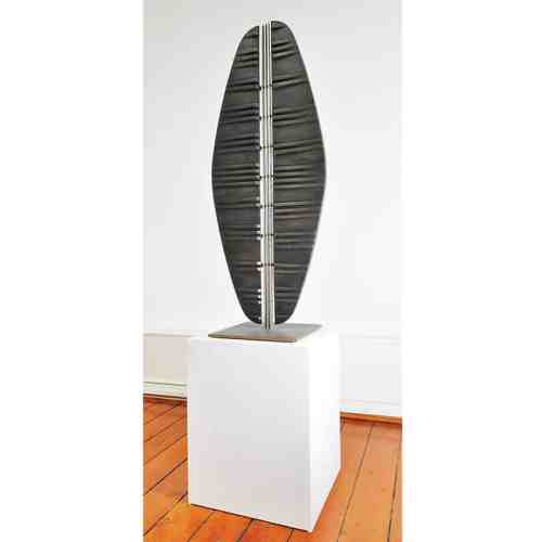 Reflection-of-Self---150x40x40cm-SOLID-CAST-SILICON-BRONZE-[bronze,Free-standing]-alan-annells-australian-sculpture