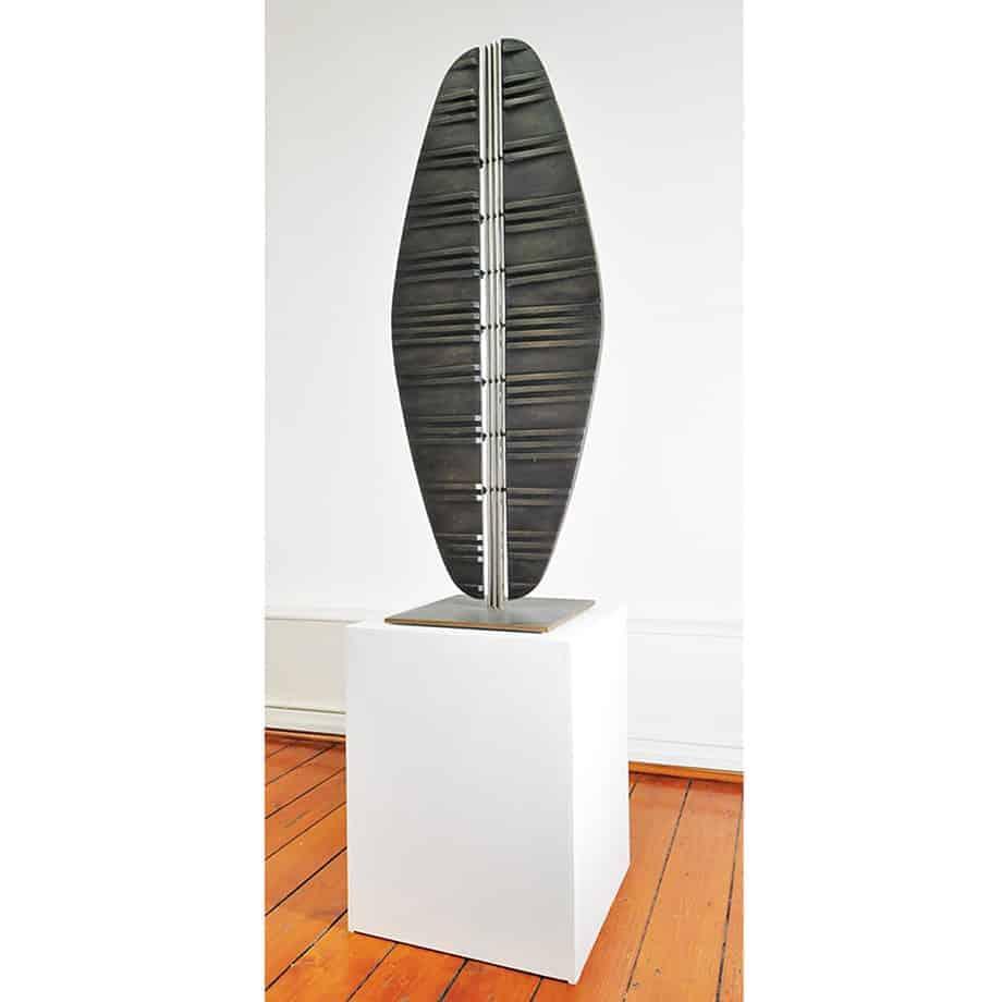 Reflection-of-Self---150x40x40cm-SOLID-CAST-SILICON-BRONZE-[bronze,Free-standing]-alan-annells-australian-sculpture