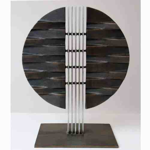 Reflection-of-Self-#3-53x45x30cm-[bronze,-table-top]-alan-annells-australian-sculpture