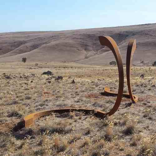 Sero-4m--CORTEN-STEEL-[Landmark]-Astra-Parker-extra-large-scale-sculpture-australian-artist-outdoor--art