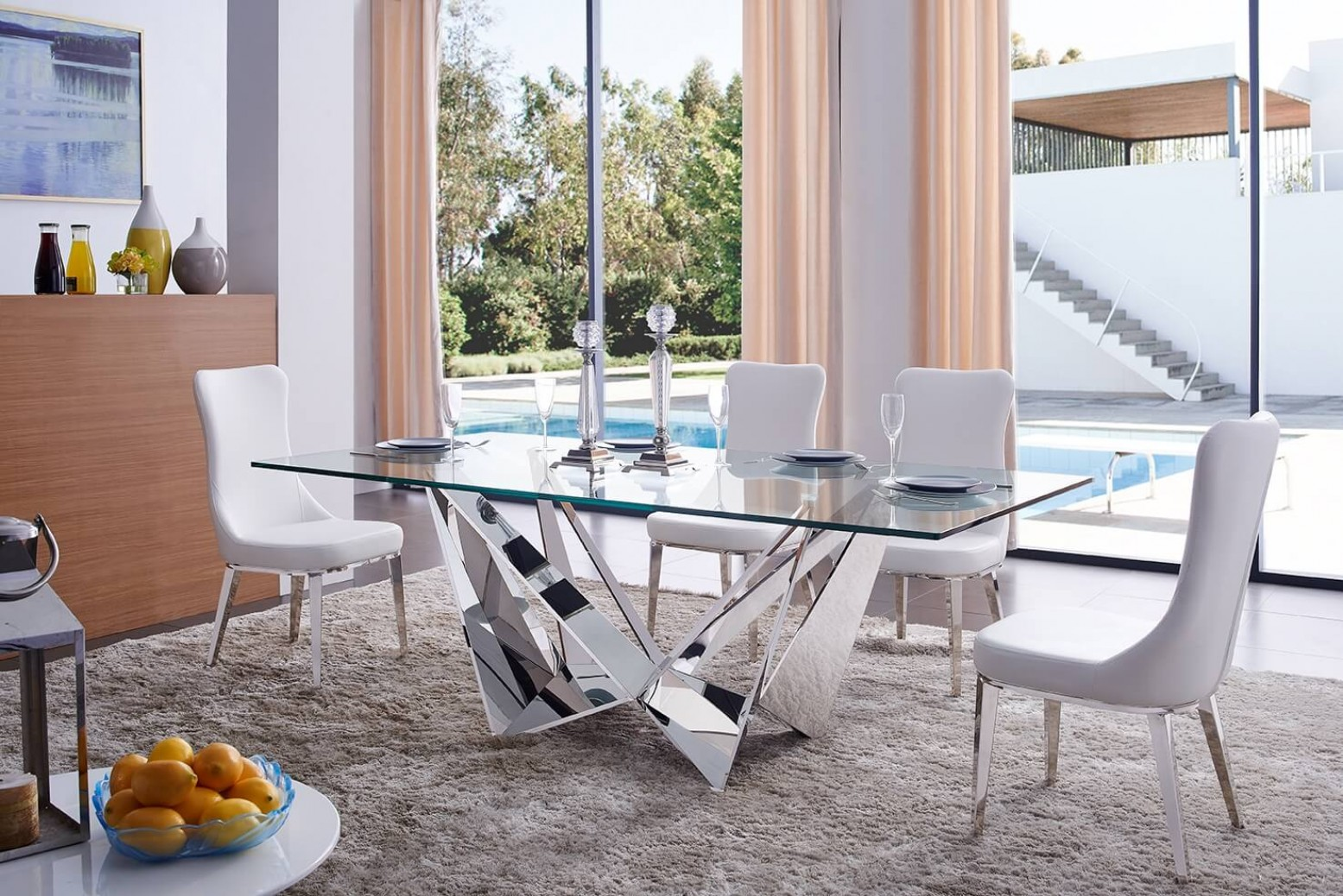 2061 Modern Dining Room Set Composition 3 By Esf Furniture Sohomod Com