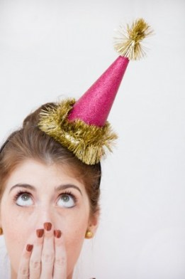 New Years Glitter Party Hat
