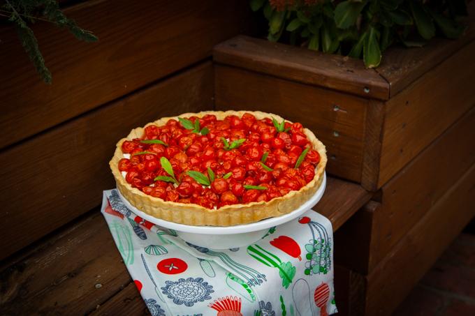 Tart sa pečenim čeri paradajzom i rikota sirom