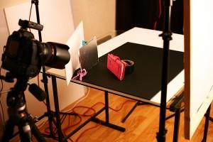 Dans le studio photo avec ses accessoires