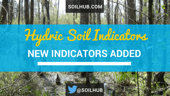 Updates to the Field Indicators of Hydric Soils
