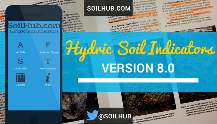 New Field Indicators of Hydric Soils in the United States Version 8.0