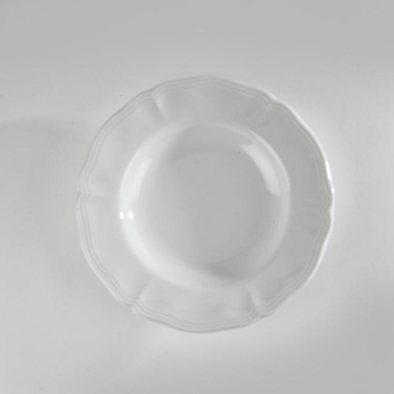 location d assiettes creuses porcelaine blanche louis xv