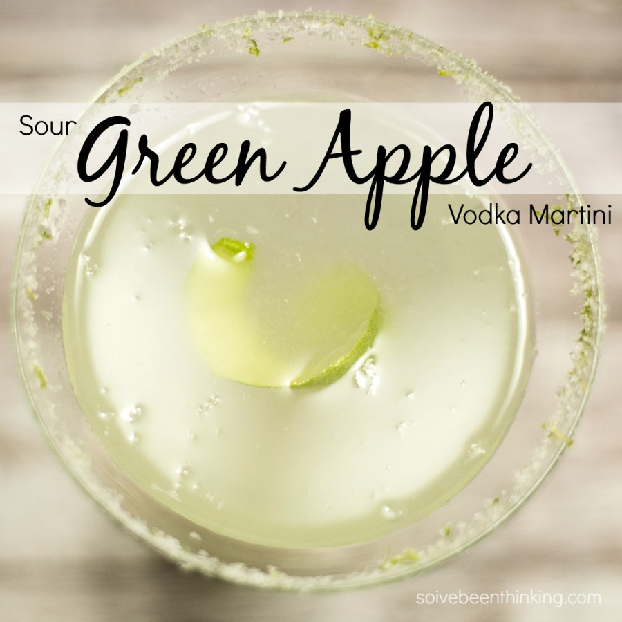 Sour Green Apple Vodka Martini