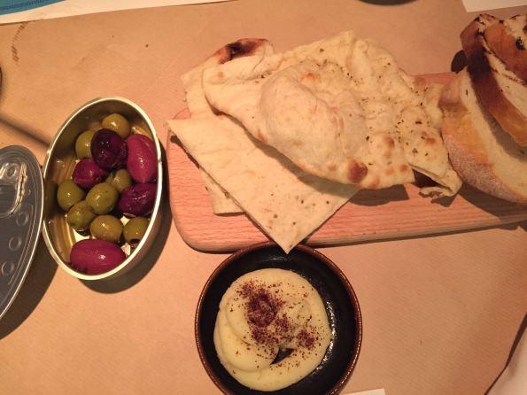 Santorini Restaurant Shangrila doha bread olives dip