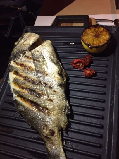 santorini grilled seabream