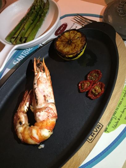 santorini shangrila doha grilled shrimp