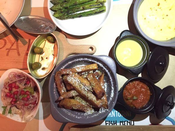 santorini shangrila sauces sides salad