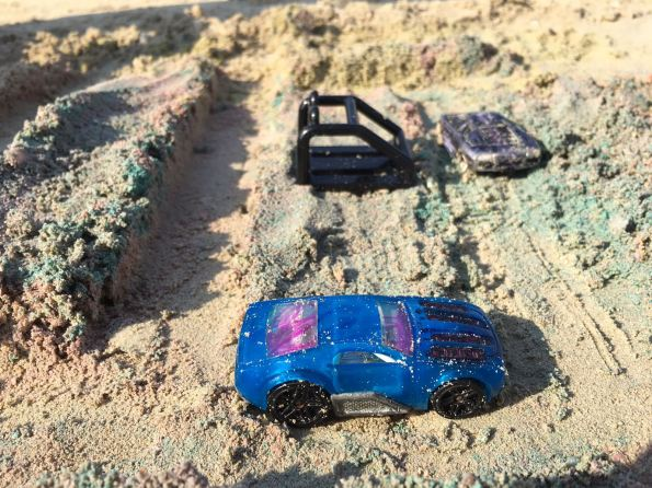 kids beach acivities car track