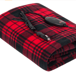 Car Heated Blanket Red