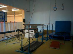 Zázemí na nácvik gymnastiky